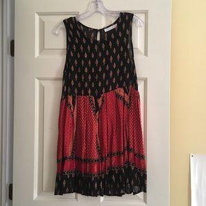 Minkpink boho babydoll printed dress